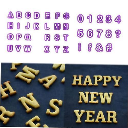 40 Pcs Digital Alphabet Letter Number Fondant Cake Biscuit Baking Mould Cookie Cutters Stamps Cake Decorating Tools Cocina