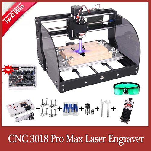3018 Upgrade Laser Engraver 3-Axis PBC Milling Laser Engraving Machine GRBL DIY Laser Machine CNC 3018 Pro Max Laser Engraving
