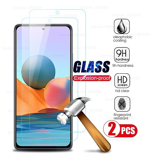 red mi notes 10 pro max glas 2pcs tempered protective glass for xiaomi redmi note10 note 10 10s full screen protector cover film
