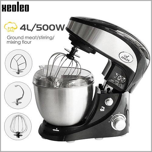XEOLEO 4l Planetary Mixer Electric Food Stand Mixerdough Mixer Cream Egg Whisk Blender with Dough Hook Food Processor 3 Speeds