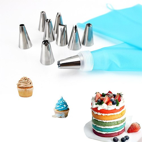Cheap Cake Decorating Tools EVA Silicone Pastry Bag Pastry Nozzles Can Be Reused Piping Bag Pocket A Sleeve Pastry Professional