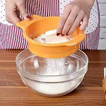 Stainless Steel Mesh Manual Flour Sugar Powder Sifter Kitchen Sieve with Scraper