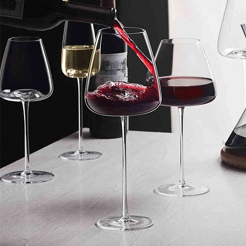 Artwork 500-600Ml Collection Level Handmade Red Wine Glass Ultra-Thin Crystal Burgundy Bordeaux Goblet Art Big Belly Tasting Cup