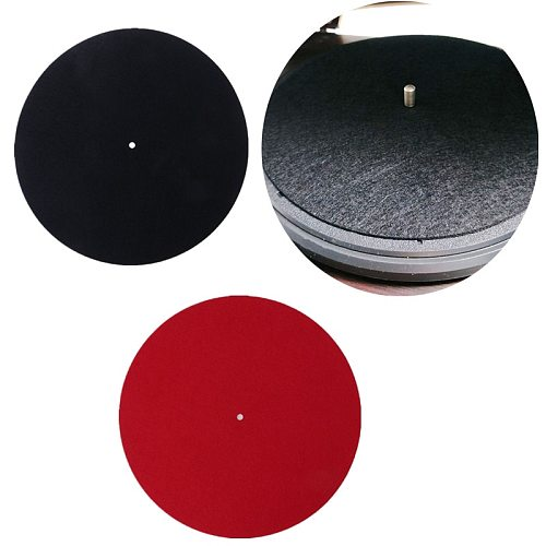 10  3mm/7  3mm Thick Anti-Static Felt Platter Turntable Mat Anti-Vibration Slipmat Audiophile For LP Vinyl Record Players