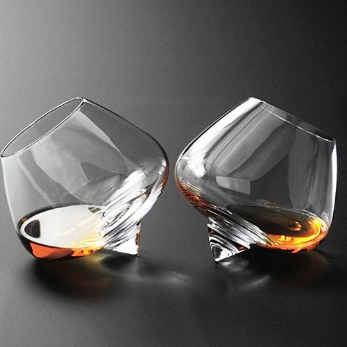Fashioned Irregular Whiskey Glass Vintage Brandy Cocktail Beer Tumbler Glass Cup Bar Drinkware Glass Coffe Wine Mug RUM Cup