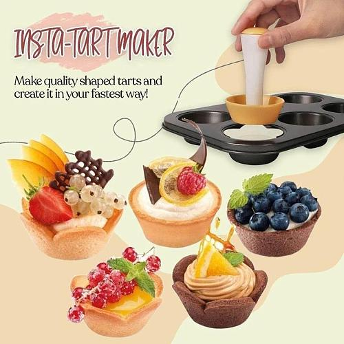 Pastry Dough Tamper Kit  Household Pastry Dough Tamper Kit 6 Cavity Cake Mold Ruesable Muffin Cupcake Maker Kit Baking Tools
