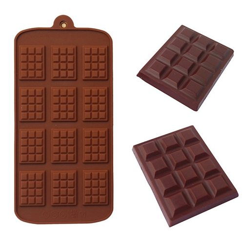 Silicone Mini Chocolate Block Bar Mould Mold Ice Tray Cake Decorating Baking Cake Jelly Candy Tool DIY Molds Kitchen Tool