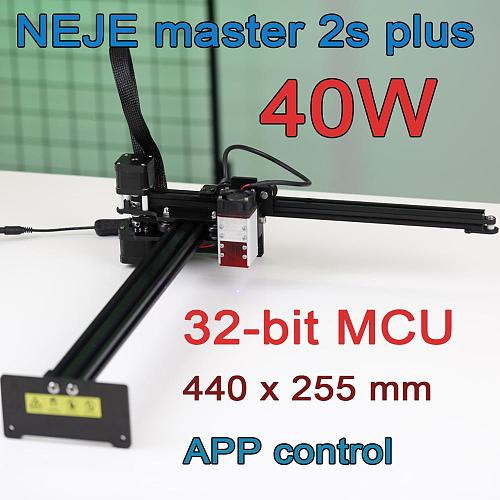 NEJE 40W CNC Laser Cutting Engraver Cutter Machine CNC Router Lightburn,Bluetooth Master 2s Plus Plywood Wood MDF Craving Tool