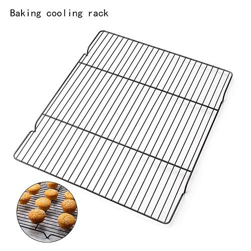 Stainless Steel Wire Grid Cooling Tray Cake Food Rack Oven Kitchen Baking Pizza Bread Barbecue for Cookie Biscuit Holder Shelf
