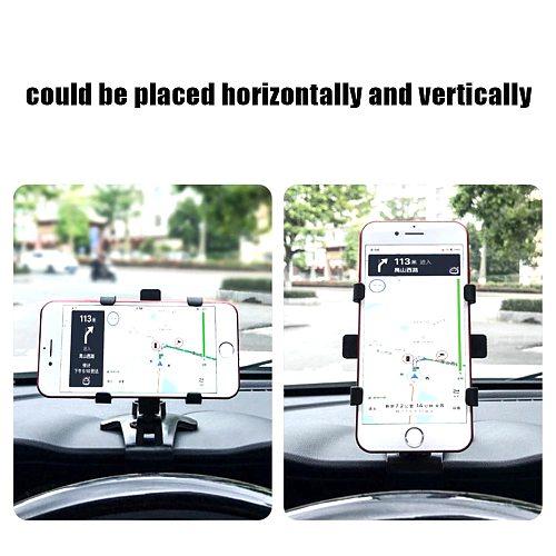 Car Mobile Phone Holder Adjustable GPS Stand Multifuntional Rack On Dashboard On Car Sun Visor Phone Fixed Brakcet