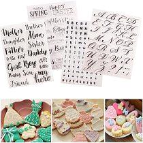 Cake Cookie Decoration Tool Set Letter Alphabet Cookie Cutter Embosser Stamp Sticky Decorating Fondant Cutter Tools Sugar Craft