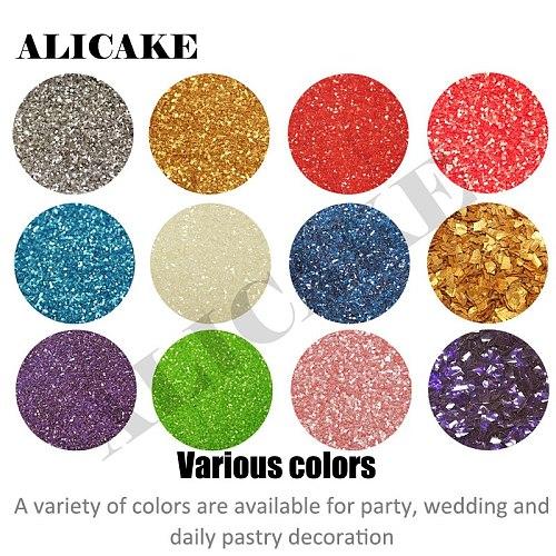 5g/can Sprinkles Golden Baking Flash Powder Glitter Lollipop Chocolate Macarons 24K Sequins Fondant For Cake Decoration