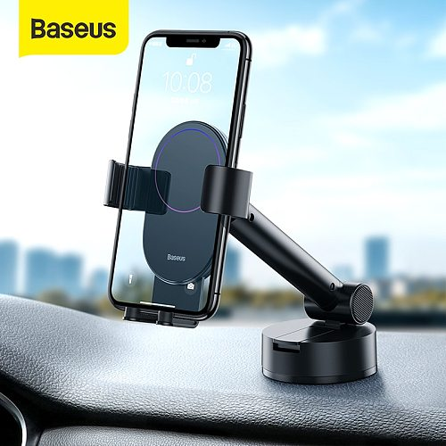 Baseus Gravity Car Phone Holder with Suction Base Retractable Adjustable For 4.7-6.5 inch Auto Support Car Phone  Stand Mount