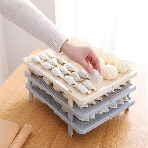 Anti-sticking Foldable Pasta Single Layer Cover Dumplings Pad Tray Kitchen Tool