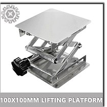 100*100 Mini Stainless Steel Lifting Platform Focus Adjustable For CNC Laser Engraving Machine Desktop Adjust Height 45-145mm