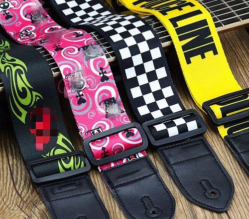 Nylon Guitar Strap Adjustable Nylon Straps for Acoustic Electric Guitar and Bass Multi-Color Guitar Belt Guitar Part Accessories