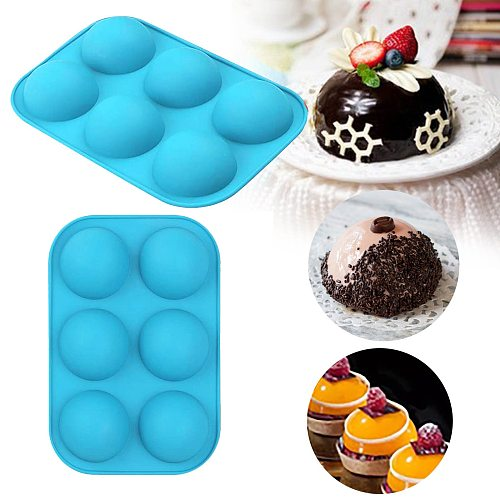 3d Hemispherical Silicone Mold 6 Hole Food Grade Baking Mold Practical Chocolate Candy Jelly Mold Baking Accessories Cake Tools