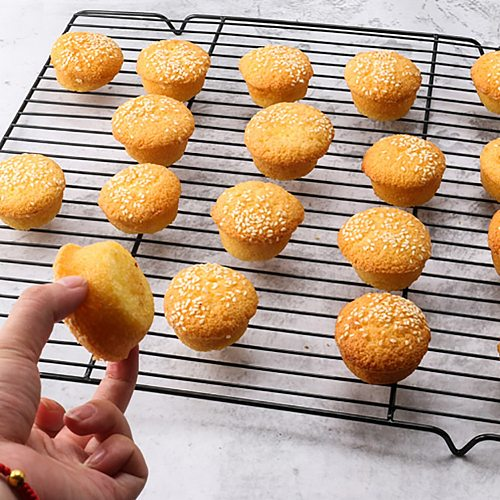 Nonstick Carbon Steel Cooling Grid Tray Biscuit Cookie Bread Cake Baking Rack Pan Oven Grilling BBQ Roasting Cooking Dry Cooler