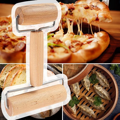 1PC Wooden Rolling Pin, Hand Dough Roller for Pastry, Fondant, Cookie Dough, Chapati, Pasta, Bakery, Pizza Household Kitchen to