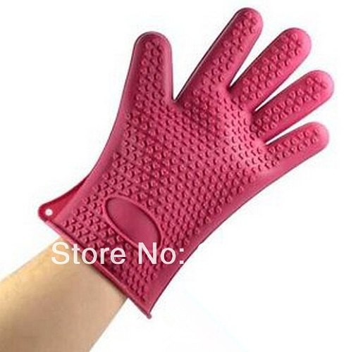 New Arrive New Non-slip Grip Heat-resistant Silicone Glove Pot Holder 4 Baking Cooking Oven