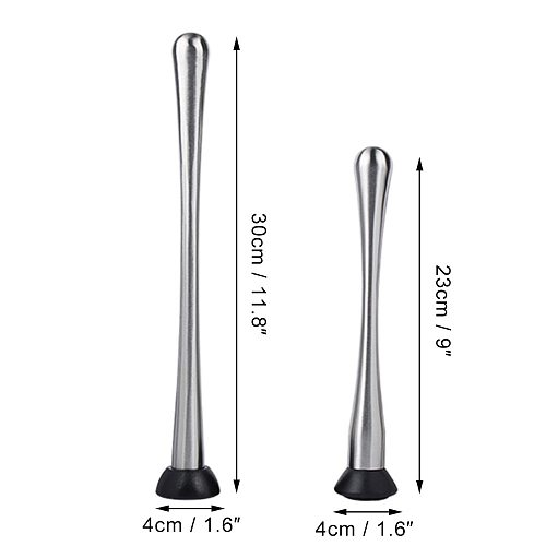 Cocktail Muddler Stainless Steel Pestle Grooved Plastic Head DIY Drinks Fruit Ice Cocktail Muddler Bar Mixer Mojito Bar Tools