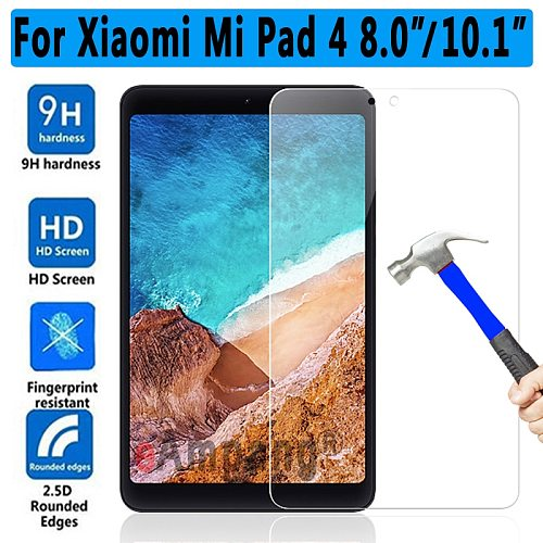 High Quality 9H HD Tempered Glass for Xiaomi Mi Pad4 8.0 / 4 Plus 10.1  Screen Protector for Xiaomi Mi Pad 4 Plus Glass Film
