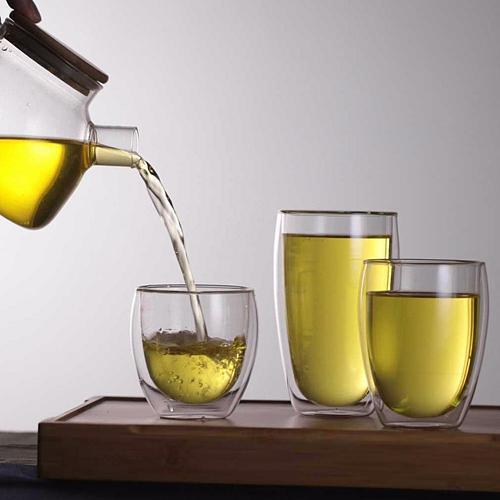 Milk Mug Lightweight Heat Resistant Double Wall Double Layer Glass Mug Tea Coffee Milk Mug