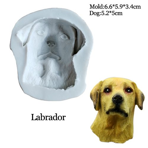 29 Styles Large Puppy Dog Face UV Resin Silicone Soap Mold Expoxy Cupcake Chocolate Sugar Cake Decorating Plaster ClayMould C386
