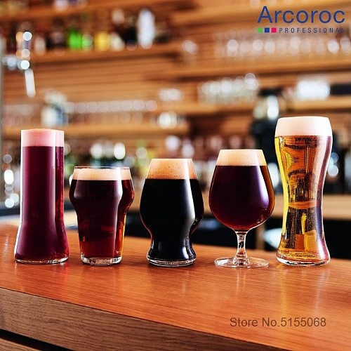 France Arcoroc Tempered Glass Beer Steins Unbreakable Large Capacity Wheat Beer Tumbler Pilsner Toughened Glass Swill Beer-mug