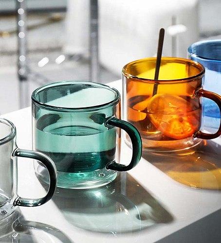 250ml Wine Glasses Drinking Tumbler Whiskey Vodka Cup Coffee Juice Water Cups Tea Creative Mug Double Bottom Glass Mugs For Home