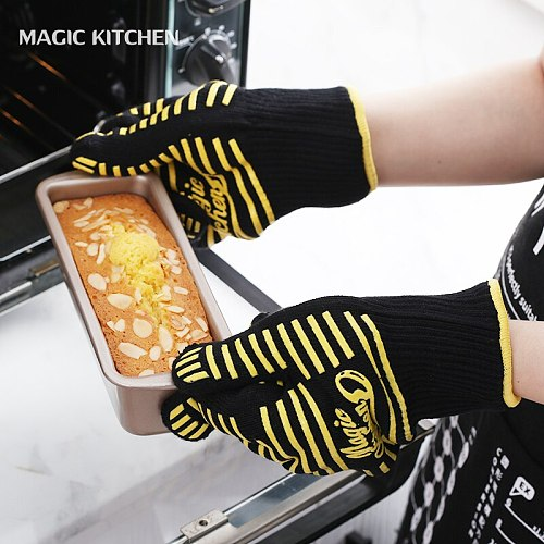 2pcs Free shipping Thickened Oven Mitts High temperature gloves Insulation Pad Cooking Tools Potholder Microondas Oven Mitts