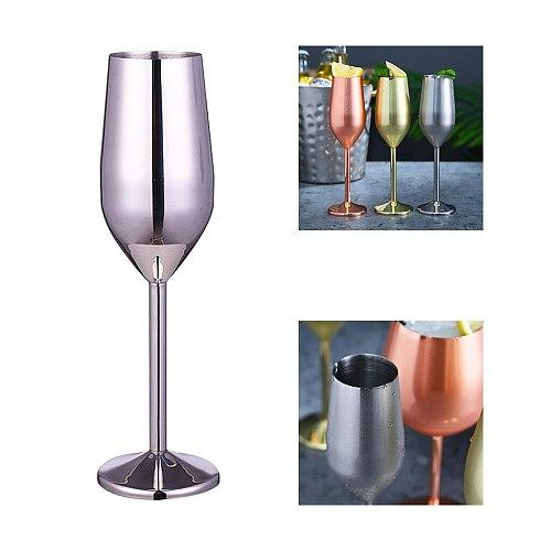 Wine Glasses, Stainless Steel Silver/Rose Gold/Golden Xmas Gift