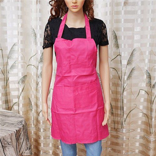 1Pcs High Quality Catering Apron With Pockets Butcher Baking Chefs Kitchen Cooking BBQ drop shipping