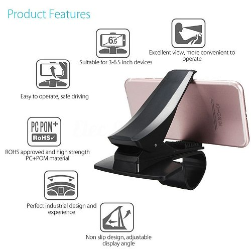 New Design Car Phone Holder Stand Adjustable Support Max 6.5 Inch For GPS For Mobile Phone Simulation HUD