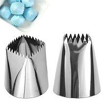 Large Size Square Icing Piping Nozzles Cake Decorating Pastry Tip Sets Fondant Cake Decorating Mold Tools 2 Sizes
