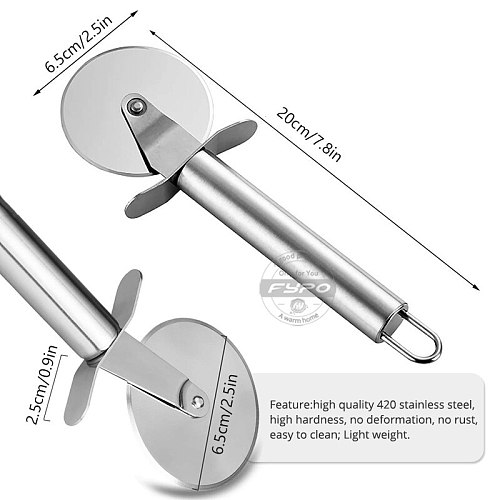 Stainless Steel Pizza Cutter,Pizza Wheel Slicer Cake Bread Pies Round Knife Kitchen Cutting