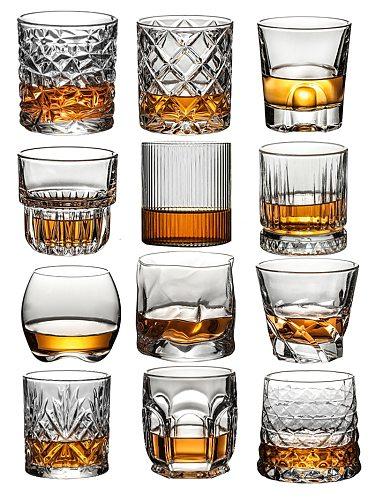 Whiskey Glasses,Scotch Glasses,Old Fashioned Whiskey Glasses/Perfect Gift for Scotch Lovers/Style Glassware for Bourbon/Rum