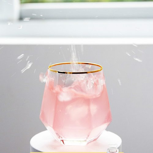 Rose Gold Wine Glasses Cup Creative Luxury Geometric Water Glass Whiskey Shot Glasses Home Tazas De Cafe Easy Juice AC50GC