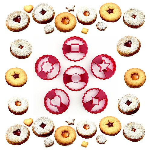 6PCS/LOT LINZER COOKIE CUTTERS DIY BAKING TOOL