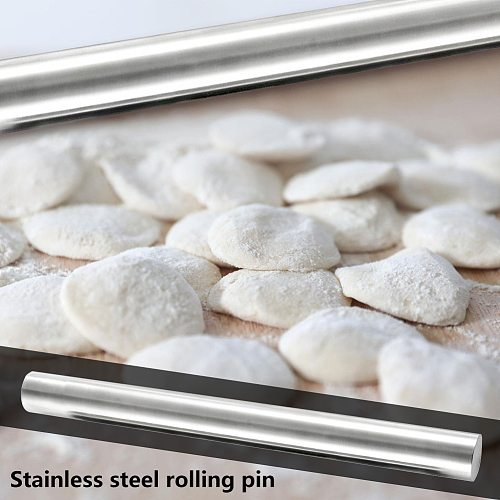 Stainless Steel Durable Corrosion-resistant Flour Stick Non-stick Pastry Dough Pizza Rolling Pins Home Kitchen Bake Tool