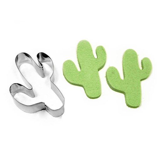 Stainless Steel Cactus Shape Cookie Cutter Biscuit Cake Baking Mold Mould Tool  DIY Mold Kitchen Baking Accessories