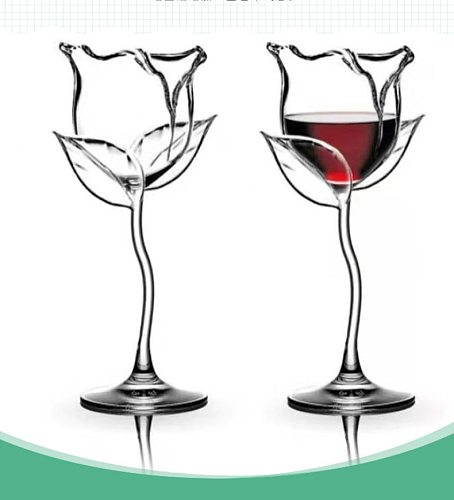 Cocktail glass 50-100ml rose flower shape fancy red wine glass goblet wine glass party wine set