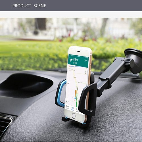 1pcs 25*5.5cm Car Phone Holder Stand Bracket for CELL Phone Windshield Mount Universal 360 degree Rotating