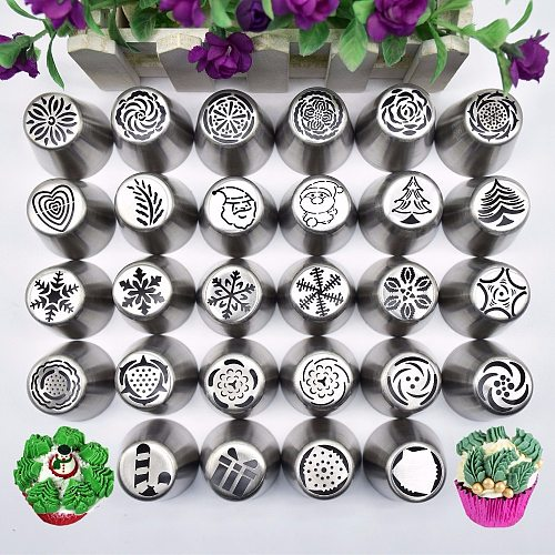New Snow Style Pastry Nozzle New Year Christmas Snowflakes Piping Tips Fondant Cake DIY Decorating Tools