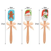 Butter Silicone Spatula Beech Wood Handle Kitchen Baking Tool Christmas Gift