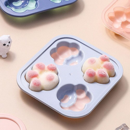 Cute Cat Claw Ice Cream Silicone Molds Creative DIY Summer Popsicle Chocolate Mold Kitchen Baking Cake Candy Mold Baking Tools