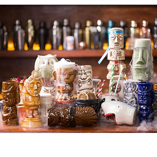Bar Restaurant Soul Originality Hawaii Cocktail Wine Glass Personality Beer Wine Cup Human Skeleton Cup Totems Tiki Ceramics Cup