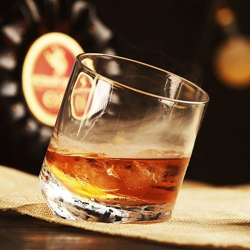 Rocking Whiskey Rock Glass Declining Inclination Angle 20 Degree 10OZ Wine Glass XO Brandy Snifer Chivas Whisky Cup