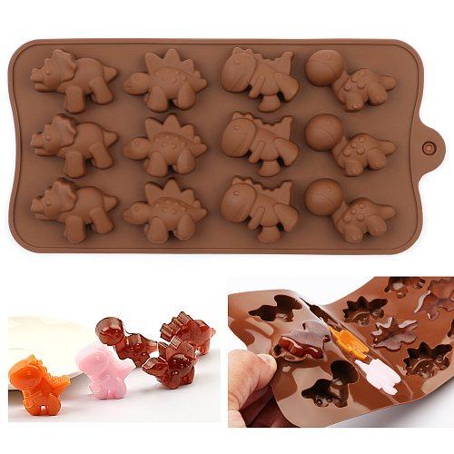 DIY Silicone Chocolate Mold dinosaur mold animal cake biscuit Mold Baking flip sugar candy silicone DIY