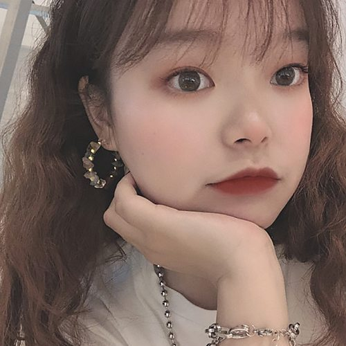 Korean Multi Color Natural Stone Hoop Fashion Earrings for Women All Handmade Fashion Wedding Jewelry Crystal Statement Earrings